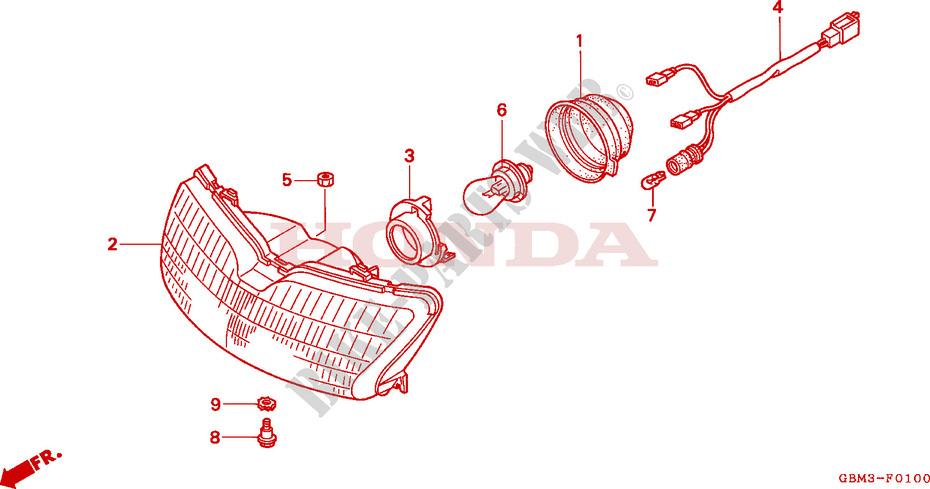 Faros Delanteros para Honda SFX 50