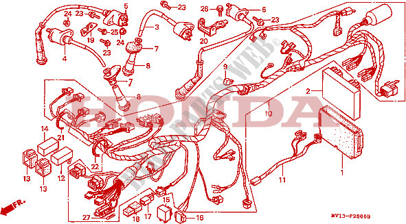 CONJUNTO DE ALAMBRES BOBINA DE ENCENDIDO Chasis XRV750L ...