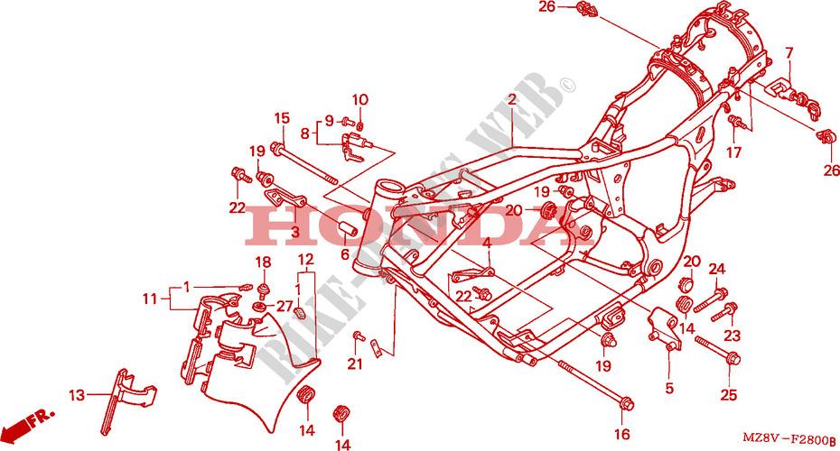 CUERPO DE BASTIDOR Chasis VT600CDV 1997 VT 600 MOTO Honda ...