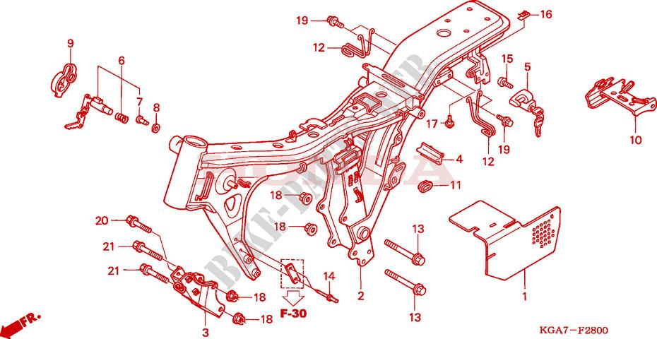 CUERPO DE BASTIDOR Chasis CG125ES4 2004 CG 125 MOTO Honda ...