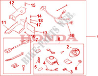 AVERTO SECURITY KIT Accesorios 125 honda-motocicleta SH 2010 08E5503