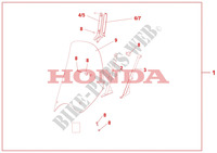 HIGH WINDSCREEN (WITHOUT KNUCKLE VISORS) Accesorios 125 honda-motocicleta SH 2010 08R8002