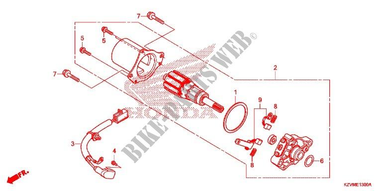 Elerose Arrancador de Retroceso de Pl/ástico llanta de la Cuerda de Piezas de Arranque de Retroceso de Arrancador de Cuerda con Tracci/ón Mini de 49cc para ATV Pocket Bike Minimoto Quad