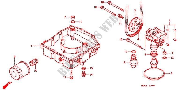 Honda Vfr 800 2003 drenaje de aceite del cárter Perno Arandela CC